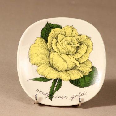 Arabia Botanica wall plate Rosa ever gold designer Esteri Tomula