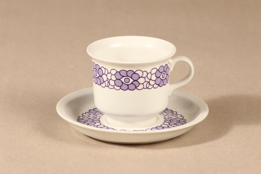 Arabia Krokus coffee cup, lilac, Gunvor Olin-Grönqvist,