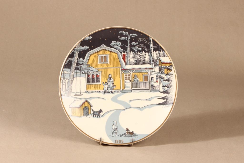 Arabia joululautanen, 1995, suunnittelija Tove Slotte, 1995, serikuva
