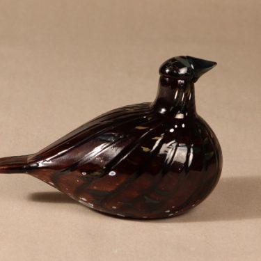 Nuutajärvi bird, Korpikiiruna, designer Oiva Toikka, signed, 3