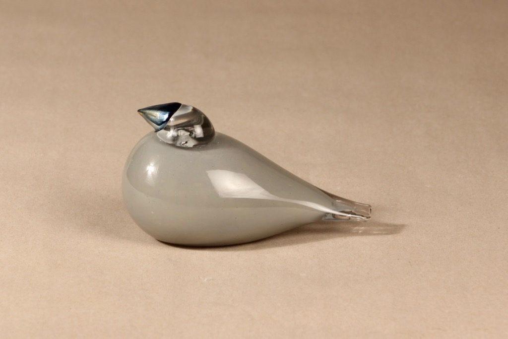 Nuutajärvi lintu , Gray Jay, suunnittelija Oiva Toikka, Gray Jay, signeerattu, erikoislintu