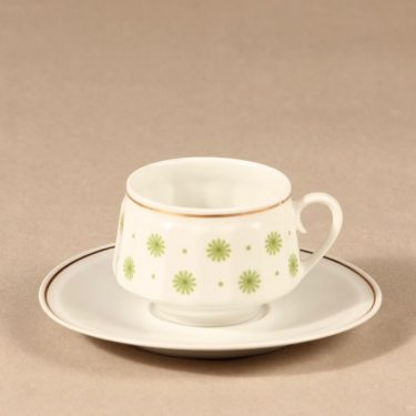 Arabia Roksana coffee cup, green, Richard Lindh