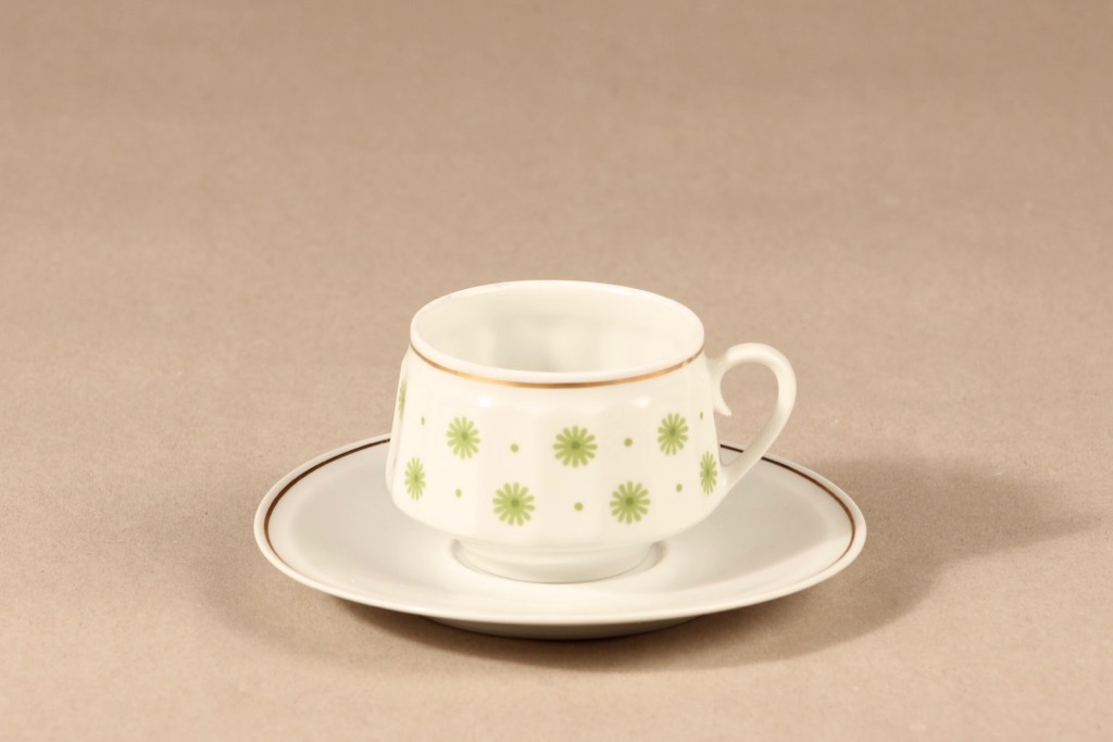 Arabia Roksana coffee cup, green, Richard Lindh