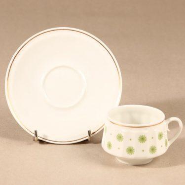 Arabia Roksana kahvikuppi, vihreä, suunnittelija Richard Lindh, serikuva kuva 2