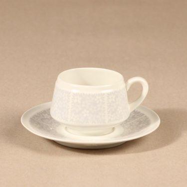 Arabia Pitsi kahvikuppi ja lautaset, 3 osaa, suunnittelija Raija Uosikkinen, 3 osaa, serikuva kuva 2