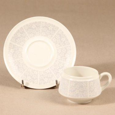 Arabia Pitsi kahvikuppi ja lautaset, 3 osaa, suunnittelija Raija Uosikkinen, 3 osaa, serikuva kuva 3