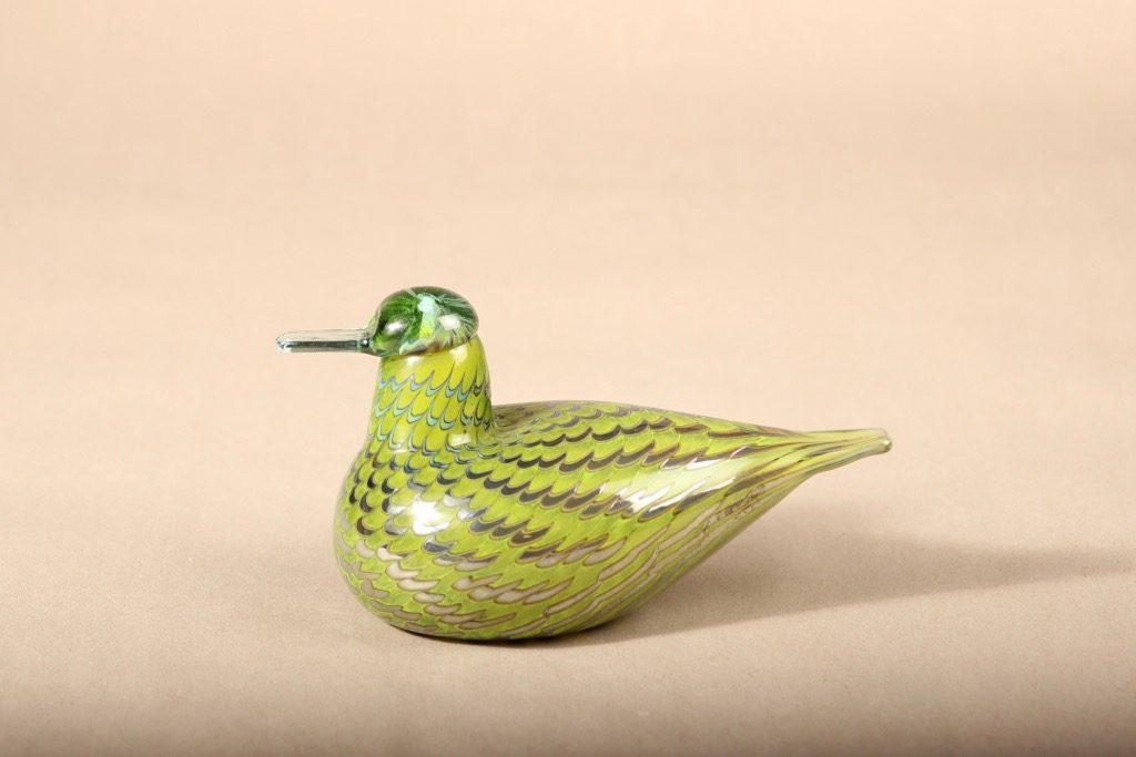 Nuutajärvi bird, Tavitar, designer Oiva Toikka, signed