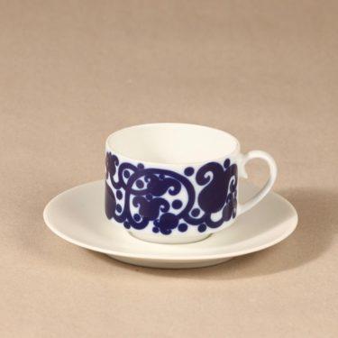 Arabia Josefiina kahvikuppi ja lautaset, sininen