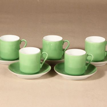 Arabia espresso cup, green, 5 pcs