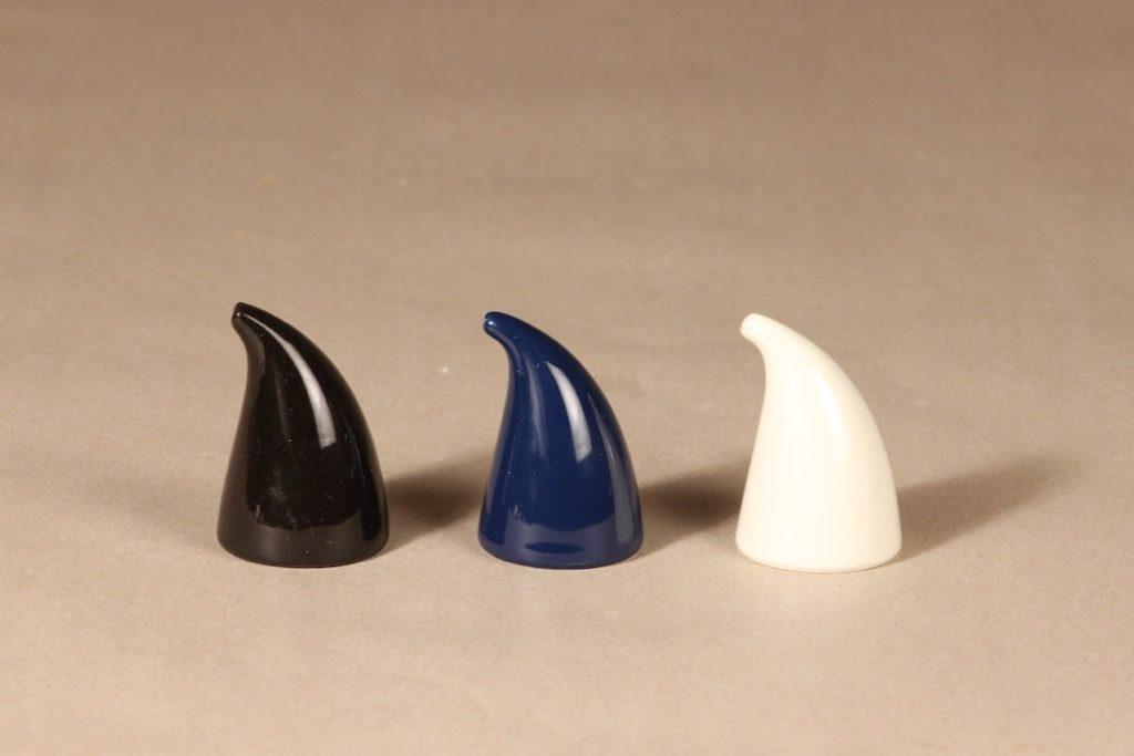 Arabia Kilta sirotin, 3 kpl, 3 kpl, suunnittelija Kaj Franck, 3 kpl, leimat kuluneet pois, tyypillistä tämän aikakauden Kiltalle