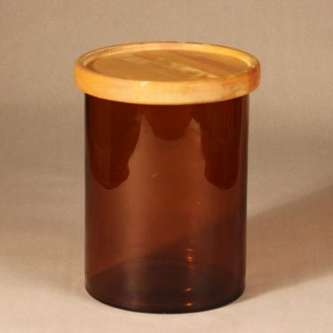 Nuutajärvi Purtilo jar with wooden lid design Kaj Franck