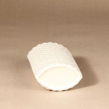 Arabia Harlekiini maljakko, valkoinen, suunnittelija Kaarina Aho,  kuva 2