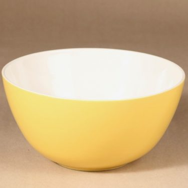 Arabia Verkko bowl, yellow design Raija Uosikkinen