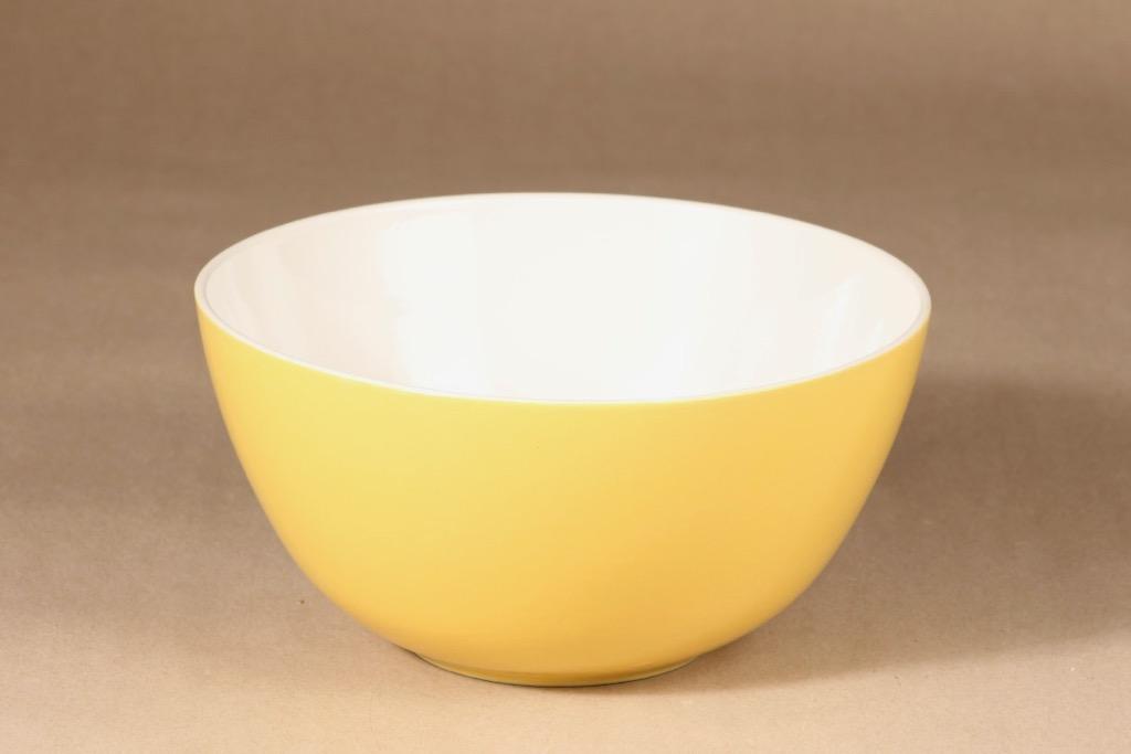 Arabia Verkko bowl, yellow design Raija Uosikkinen