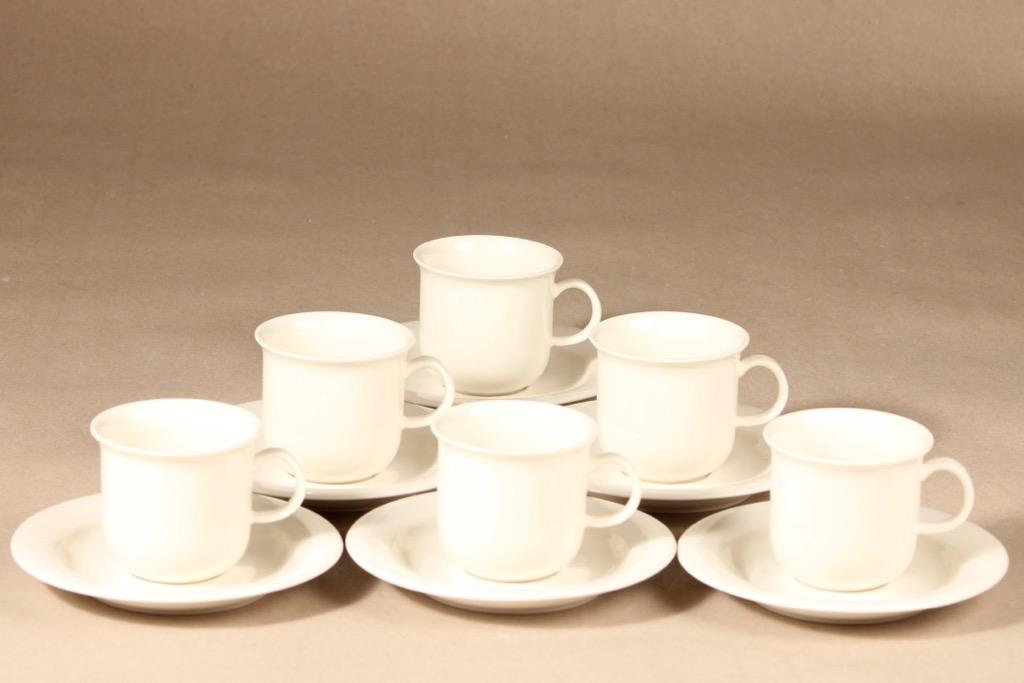 Arabia Arctica coffee cups, 6 pcs, design Inkeri Leivo