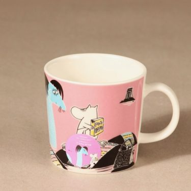 Arabia Moomin mug Keep water clean design Tove Slotte