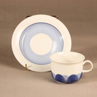 Arabia Pudas Arctica teekuppi, vitroposliini, suunnittelija Inkeri Leivo, vitroposliini, serikuva kuva 2