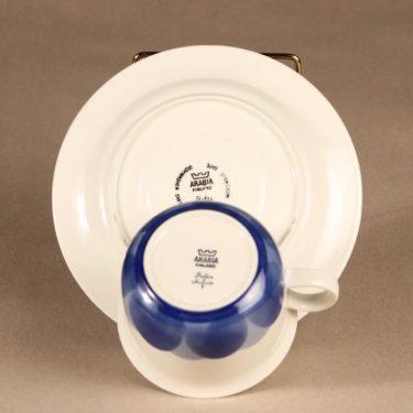 Arabia Pudas Arctica teekuppi, vitroposliini, suunnittelija Inkeri Leivo, vitroposliini, serikuva kuva 3