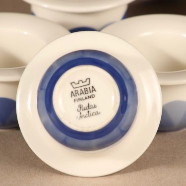 Arabia Pudas Arctica munakuppi, sininen, 6 kpl, suunnittelija Inkeri Leivo, serikuva kuva 2