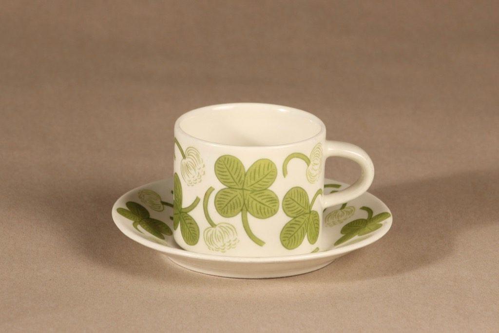Arabia Apila coffee cup, green, Birger Kaipiainen
