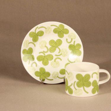 Arabia Apila teekuppi, vihreä, suunnittelija Birger Kaipiainen, serikuva kuva 2