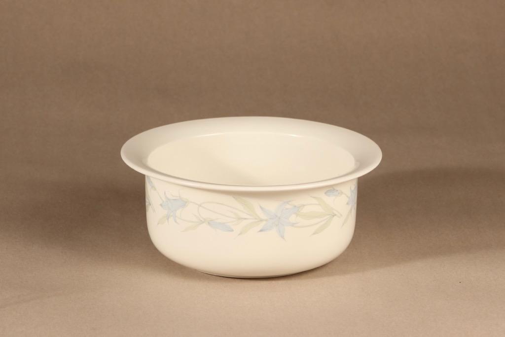 Arabia Sinikello kulho, sininen, suunnittelija Esteri Tomula, serikuva, kukka-aihe