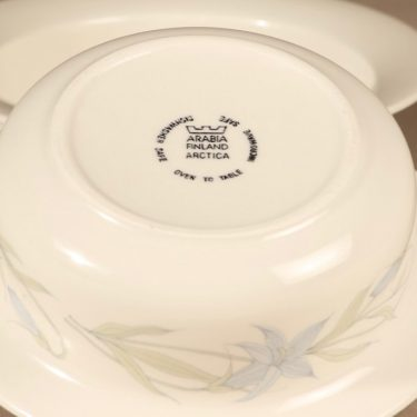 Arabia Sinikello annoskulho, sininen, 2 kpl, suunnittelija Esteri Tomula, serikuva, kukka-aihe kuva 2