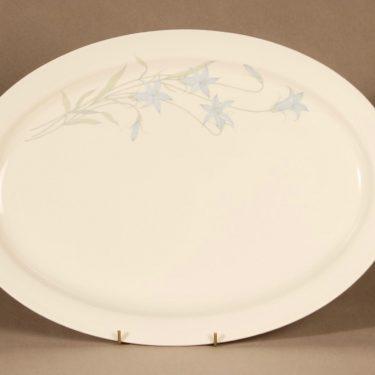 Arabia Sinikello tarjoiluvati, sininen, suunnittelija Esteri Tomula, serikuva, kukka-aihe kuva 2