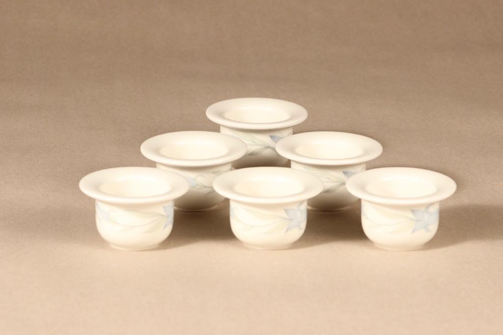 Arabia Sinikello egg cups, 6 pcs design Esteri Tomula