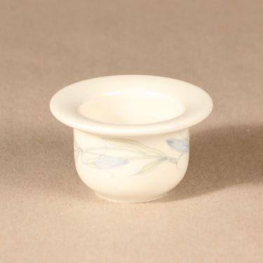 Arabia Sinikello munakuppi, sininen, 6 kpl, suunnittelija Esteri Tomula, serikuva, kukka-aihe kuva 2