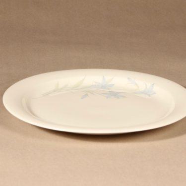 Arabia Sinikello lautanen, matala, suunnittelija Esteri Tomula, matala, serikuva, kukka-aihe kuva 2