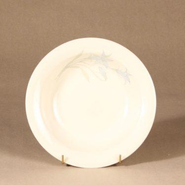 Arabia Sinikello lautanen, syvä, suunnittelija Esteri Tomula, syvä, serikuva, kukka-aihe