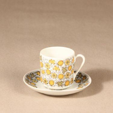 Arabia Juhla kahvikuppi, suunnittelija tuntematon, serikuva, kukka, hedelmä