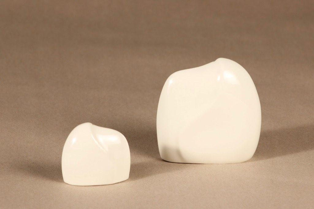 Arabia Lumina sirottimet, valkoinen, 2 kpl, suunnittelija Pauli Partanen, moderni