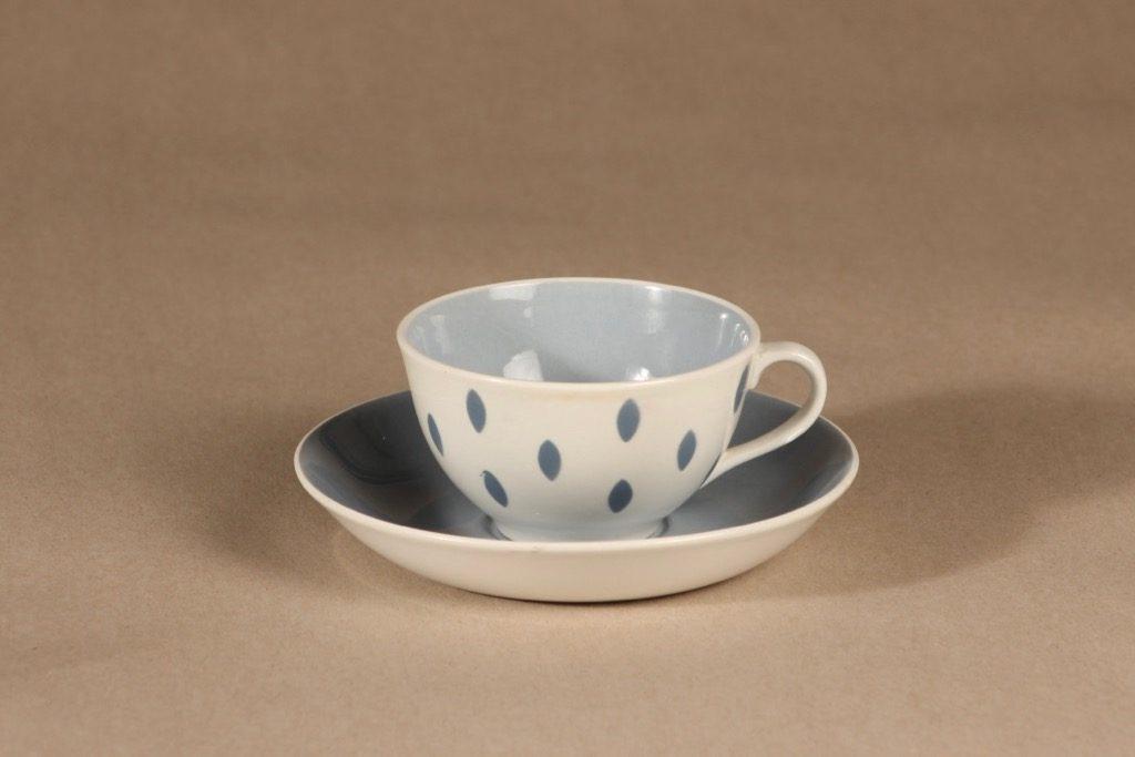 Arabia Donna kahvikuppi, pilkullinen, suunnittelija Raija Uosikkinen, pilkullinen, pilkullinen