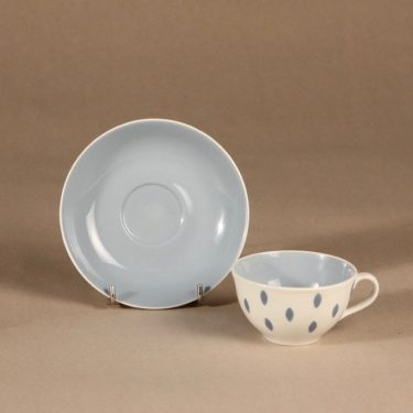 Arabia Donna kahvikuppi, pilkullinen, suunnittelija Raija Uosikkinen, pilkullinen, pilkullinen kuva 2