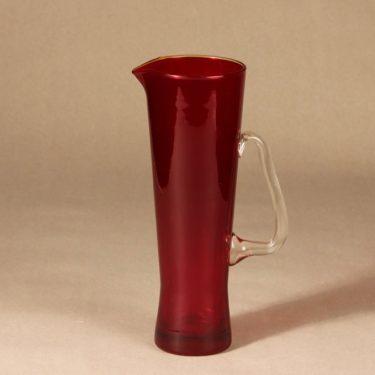 Riihimäen lasi Milano pitcher, ruby design Sakari Pykälä