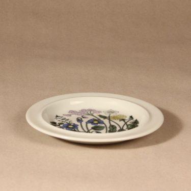 Arabia Flora lautanen, suunnittelija Esteri Tomula, kukka-aihe, serikuva, pieni kuva 2