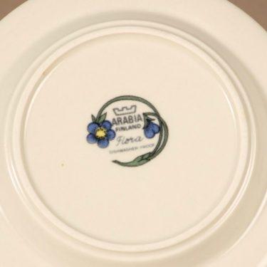 Arabia Flora lautanen, suunnittelija Esteri Tomula, kukka-aihe, serikuva, pieni kuva 3