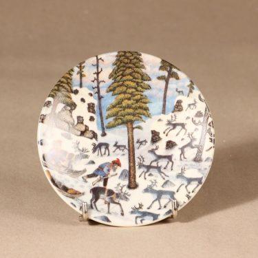 Arabia   Poromiehet metsällä, Poromiehet metsällä, suunnittelija Andreas Alariesto, Poromiehet metsällä, serikuva, pieni