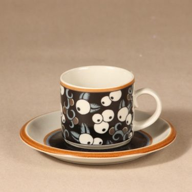 Arabia Taika coffee cup, blown decoration, Inkeri Leivo