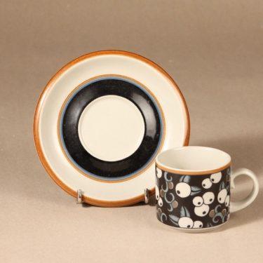 Arabia Taika kahvikuppi, puhalluskoriste, suunnittelija Inkeri Leivo, puhalluskoriste, puhalluskoriste, retro kuva 2