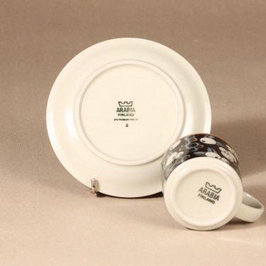 Arabia Taika kahvikuppi, puhalluskoriste, suunnittelija Inkeri Leivo, puhalluskoriste, puhalluskoriste, retro kuva 3