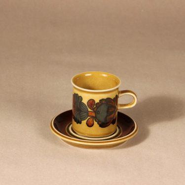 Arabia Otso kahvikuppi, ruskea, suunnittelija Raija Uosikkinen, erikoiskoriste, retro