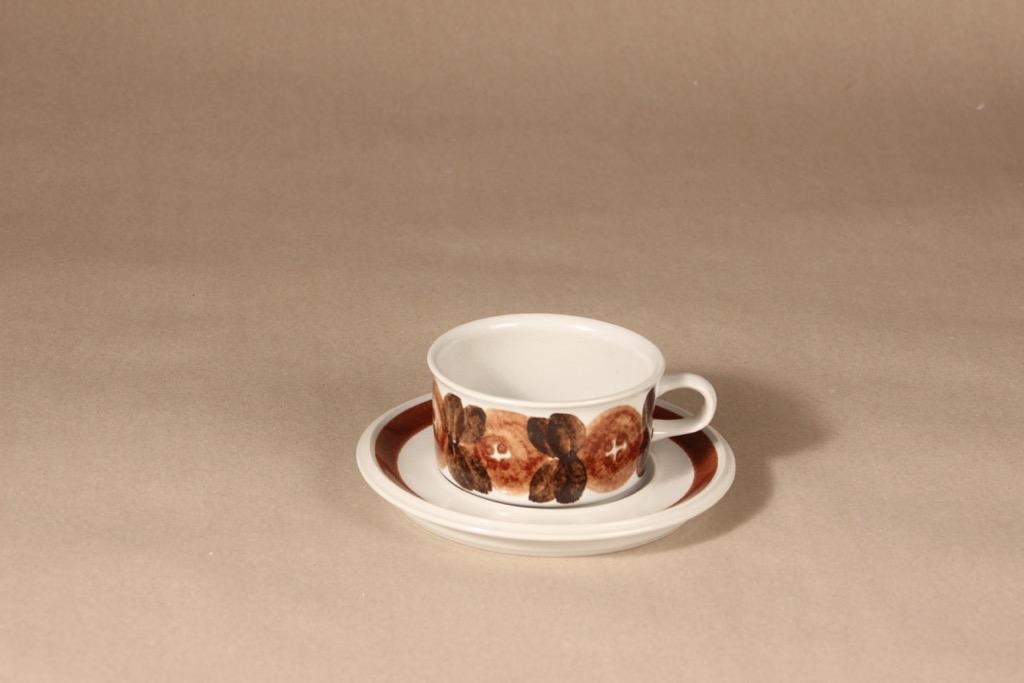 Arabia Rosmarin tea cup, hand-painted, designer Ulla Procope, hand-painted, signed