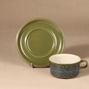 Arabia S teekuppi, käsinmaalattu, suunnittelija Hilkka-Liisa Ahola, käsinmaalattu, käsinmaalattu, signeerattu kuva 2