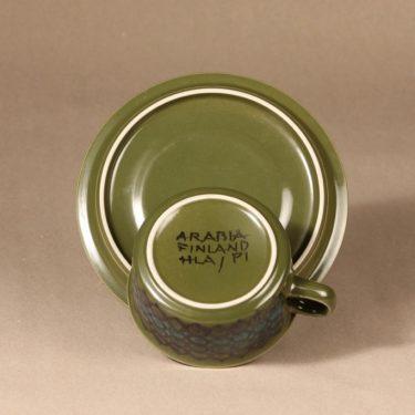 Arabia S teekuppi, käsinmaalattu, suunnittelija Hilkka-Liisa Ahola, käsinmaalattu, käsinmaalattu, signeerattu kuva 3