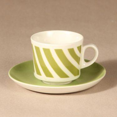 Arabia BR kahvikuppi, puhalluskoriste, suunnittelija , puhalluskoriste, raidallinen, puhalluskoriste