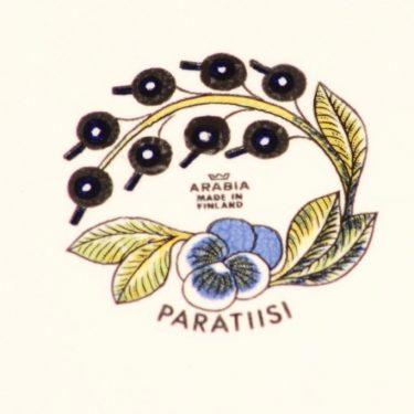 Arabia Paratiisi tarjoiluvati, ovaali, suunnittelija Birger Kaipiainen, ovaali, serikuva, soikea kuva 3