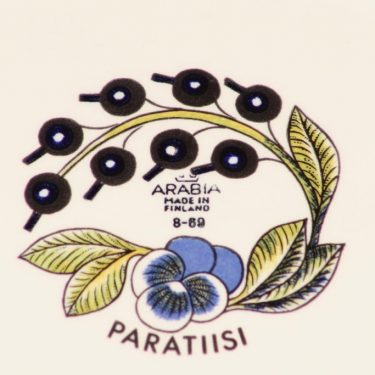 Arabia Paratiisi tarjoilukulho, ovaali, suunnittelija Birger Kaipiainen, ovaali, serikuva, soikea kuva 3